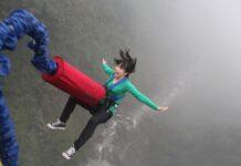 Bungee jump nad řekou Kawarau